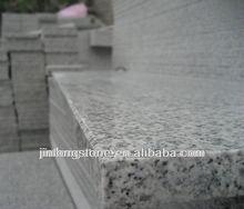 Polished G603 grey granite slabs cutting edge
