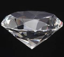 diamond glass paperweight
