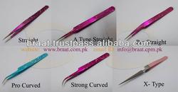 Braat Top quality ESD 15 strong curved tweezers eyelash extension tweezers