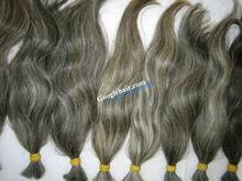 Whole Sale Human Hair Natural Color Natural Grey Hair Best Price 100% Original Hair