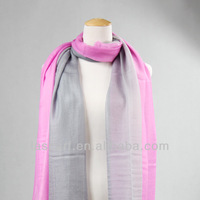 grey and pink color hand painted wool wraps