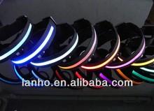 NEW S-M-L-XL Size LED Flashing Lights Dog Collar Nylon- WalGap