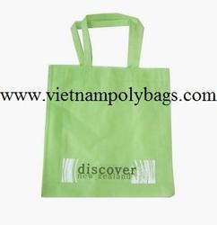 Green reusable shopping PP woven bag