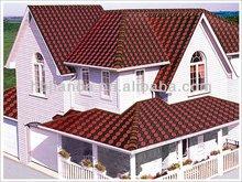 Red asphalt roofing shingles patterns