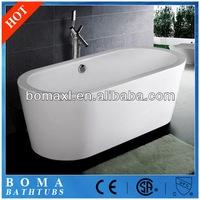 Modern New Free Standing Acrylic Oval Bath Tub Optional Whirlpool
