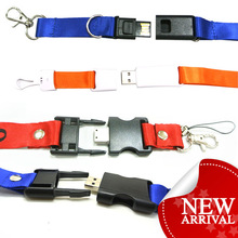 silk-screen logo lanyard usb memory