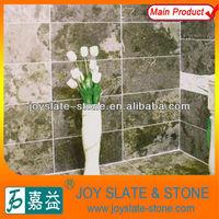 Beautiful polished limestone bathroom tile