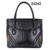 2014 New Products Made in China Black zipper Ladies handbags