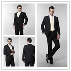 tailor made european classic black business suit for men