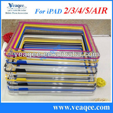 colorful tpu pc bumper case for apple ipad 2,3,4,5