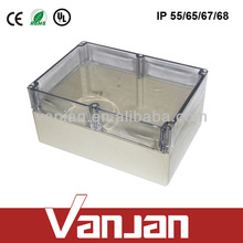 2014 newest 320*240*155 ABS clear lid plastic enclosure