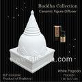 Blanc de pagode en céramique parfum diffuseur