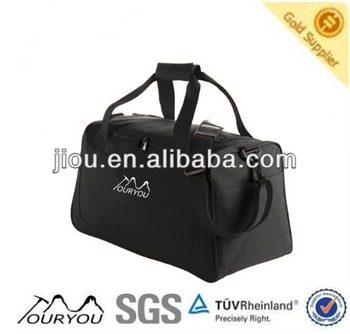 Black color polyester material golf bag travel cover