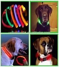 New Safety Dog Pet Nylon LED Collar Light-up Flashing Glow LED Collar