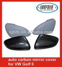 elegant apprearance! carbon fiber/fiber glass car rear view side mirror cover 2008-2012 for golf 6