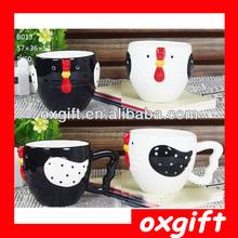 OXGIFT Ceramic Bird Cup