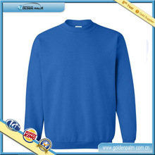 Top quality mens solid color pullover with soft handfeel
