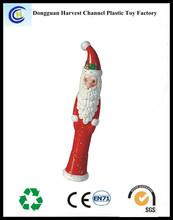 Santa claus figure plastic ballpoint pen for Christmas gift