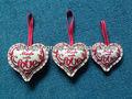 ( xd- 05b) 2014 bordado pequeño sentía navidad decoración de corazón/ornamento