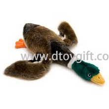 Stuffed Plush Duck Dog Toy with Squeaker