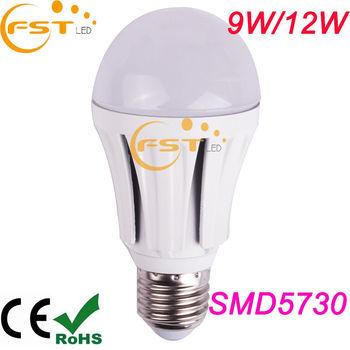 Hot sales led light bulbs canada 180degree smd5730 85-265V 9W