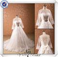 Jj0071 vestido de baile mangas compridas vestidos de casamento para noivas grávidas