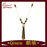Fashion 2014 long chain hot sale necklace,2014 hot spike fashion imitation jewellery