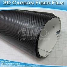 คาร์บอนไฟเบอร์สีดำไวนิลตัวรถตัดสติกเกอร์3m