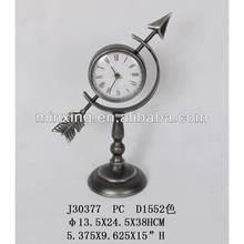 Antique iron globe clock