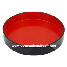 High quality eco-friendly handmade vietnamese lacquerware bathroom accessories in red & black