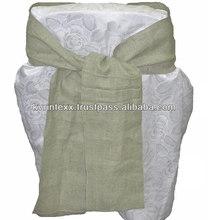 New fashion design cheap wedding chair sashes