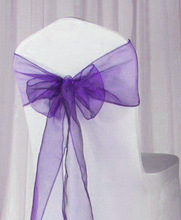 New fashion design wedding chair covers and sashes