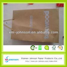 block bottom brown kraft paper bags for sale