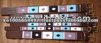 Masai beaded leather dog collars