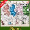 mobile phone beautiful jewel diamond hard cases for iphone 5