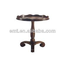 Wooden Top Design Flower Shape hotel side table (EMT-T35)