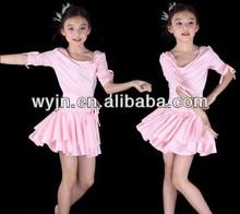 Colorfulworldstore Child Girls/Ladies Latin salsa cha cha tango Ballroom Dance Dress -Over all dress in 3sets-Blue