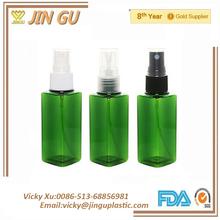 PET square&round transparent cosmetic travel set,pet transparent atomizer spray bottle