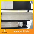 artificial de mármol beige líneas de construcción decorativa de pilar