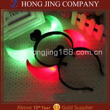 Multicolor LED Flashing Devil Horns Headband