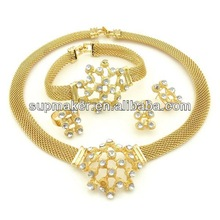african fashion jewelry sets / saudi gold plated jewelry