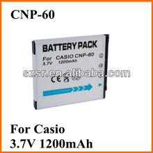 For Casio digital camera battery NP-60 3.7v 1200mah