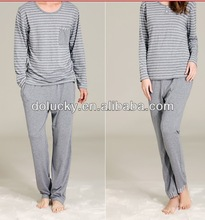 2013 hot selling high quality fashion leisure pajamas long t-shirt and pant set