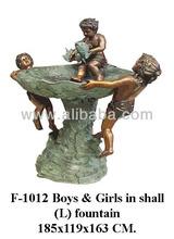Boys & Girls in shell Fountain.