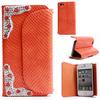 Snake leather flip wallet case for iphone 4 4s original
