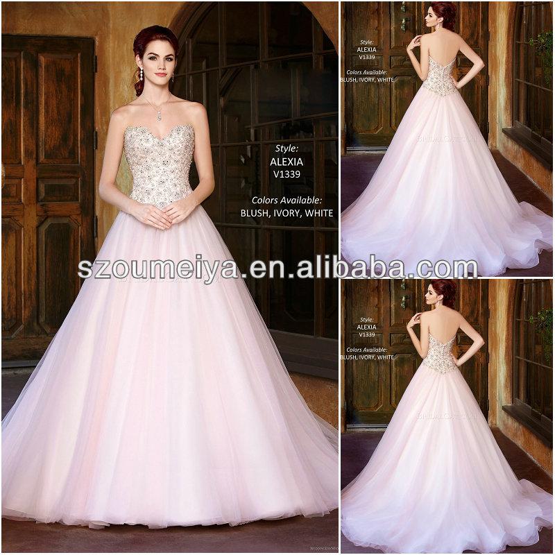 Bling Wedding Dresses Pink Pink Wedding Dress 2014