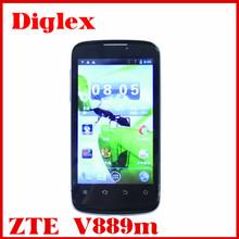 Cheap 4inch original Zte V889m mtk6577 dual core 512MB RAM 4GB ROM 5MP GPS 3g dual sim smartphone