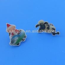 offset printing animal designed lapel pin/ metal pin/ collar pin for cloth