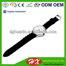 High quality Quartz Alloy watch silicone band with Different size for Adult