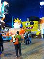 Inflável SpongeBob SquarePants / personalizado inflável Crabby Patty / inflável bob esponja calça quadrada personalizado